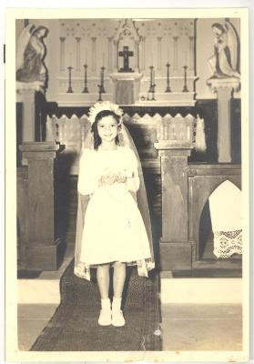 Rose Marie Camacho's first communion
