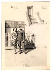 Daniel Camacho posing with a woman in his World War II service uniform