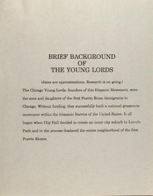 Brief Background of the Young Lords