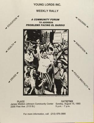 A Community Forum to Address Problems Facing El Barrio