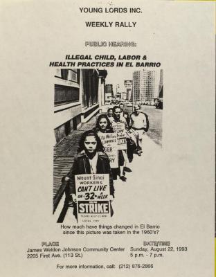 Illegal Child, Labor & Health Practices in El Barrio