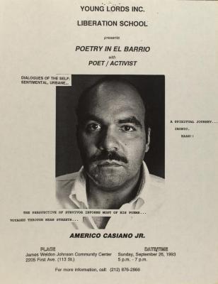 Poetry in El Barrio with Poet/Activist Americo Casiano, Jr.