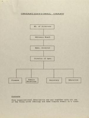Organizational Chart of Young Lords, Inc.