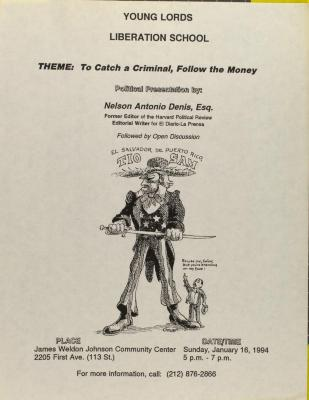 THEME: To Catch a Criminal, Follow the Money