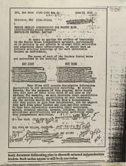 Correspondence to the FBI