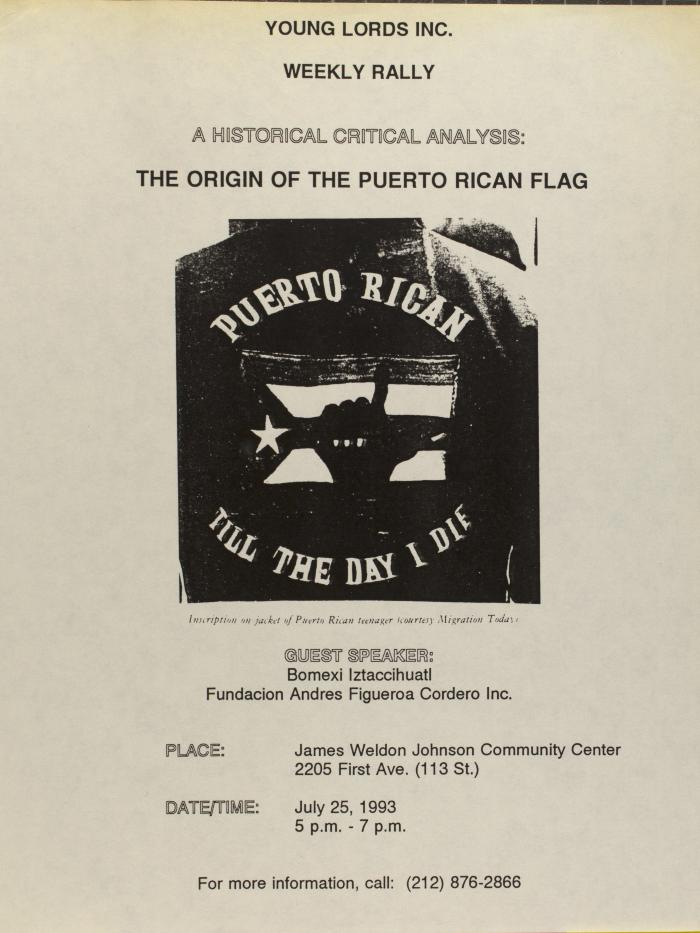 A Historical Critical Analysis: The Origin of the Puerto Rican Flag