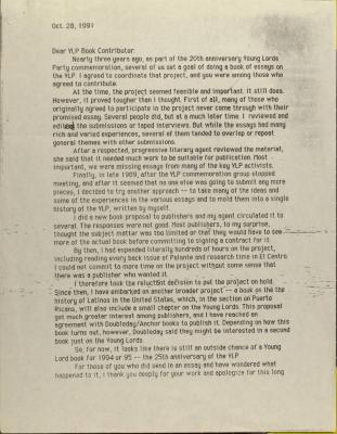 Correspondence from Juan González