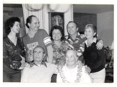 Blase Camacho with her parents, sisters, and brothers