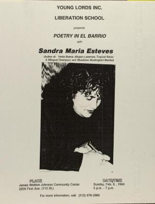 Poetry in El Barrio