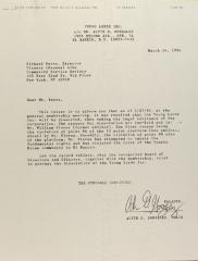 Correspondence from Alvin Gonzalez of the Young Lords, Inc.
