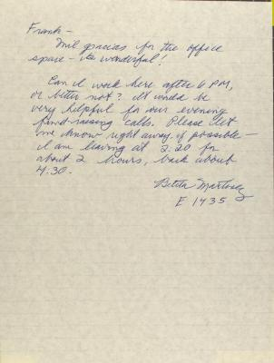 Correspondence from Bettina Martinez