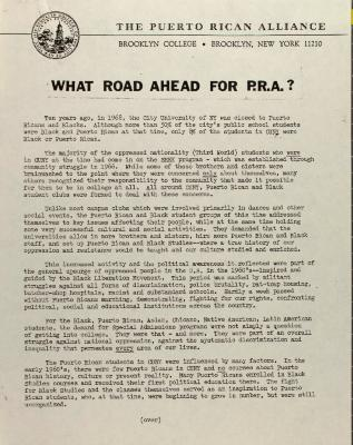 What Road Ahead for P.R.A.?