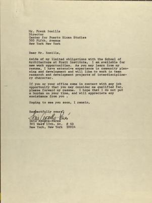 Correspondence from Luis Aponte-Perez