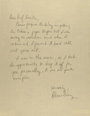 Correspondence from Dolores Perez