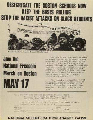 Desegregate the Boston Schools Now - Keep the Buses Rolling - Stop the Racist Attacks on Black Students