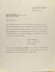 Correspondence from Susan Pensak