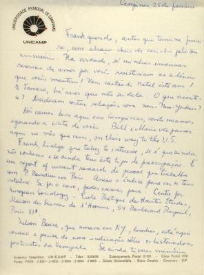 Correspondence from the Universidade Estadual de Campinas