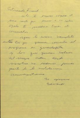 Correspondence from Eduardo Seda Bonilla