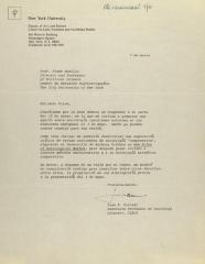 Correspondence from New York University
