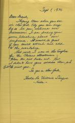 "Correspondence from ""Hilda"""