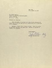 Correspondence from Rafael Cintron-Ortiz