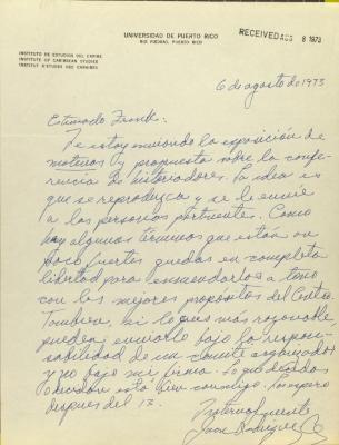 Correspondence from University of Puerto Rico