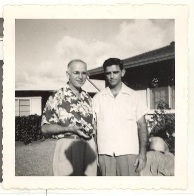 Two men at Pat's christening