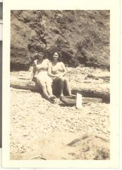Shandre Caravalho Coit and a friend at the beach