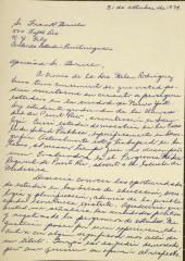 Correspondence from Maria A. Díaz Pérez