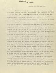 Correspondence from José Agustín
