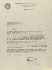Correspondence from the National Institute of Education