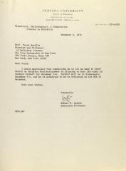 Correspondence from Indiana University
