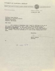 Correspondence from the University of California, Berkeley