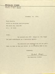 Correspondence from Brazilian Studies