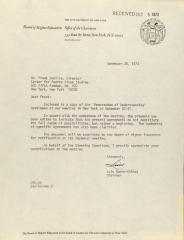 Correspondence from the CUNY Board of Higher Education