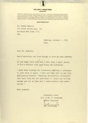 Correspondence from H.F. & Ph. F. Reemtsma