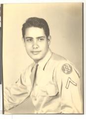 Richard Caravalho in World War II service uniform