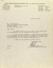 Correspondence from Concilio de Inquilinos del Barrio, Inc.