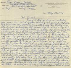 Correspondence from Pete Avila