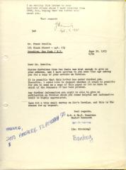 Correspondence from Dr. Kleining of H.F. and Ph.F Reemtsma