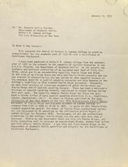 Correspondence from Socorro Emilia Texador