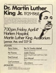 A Mass Public Rally in Memory of Martin Luther King, Jr.