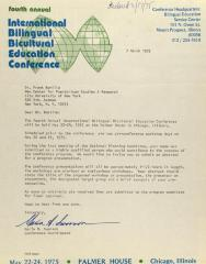 Correspondence from International Bilingual Bicultural Education Conference