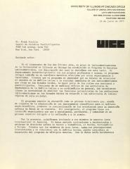 Correspondence from the University of Illinois