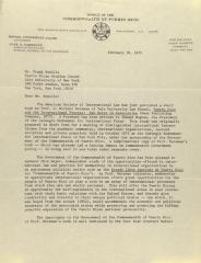 Correspondence from the Office of the Commonwealth of Puerto Rico