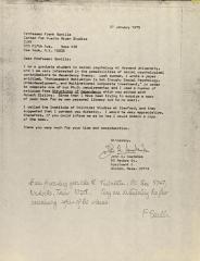 Correspondence from John A. Smetanka