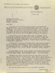 Correspondence from the University of California, Los Angeles