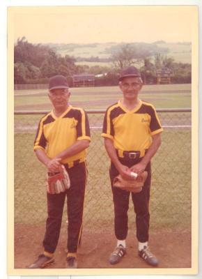 Two men in baseball uniforms