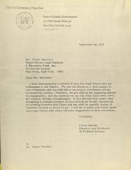 Correspondence from Frank Bonilla