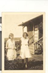 Blase Camacho and Julia Robello in front of Robello home